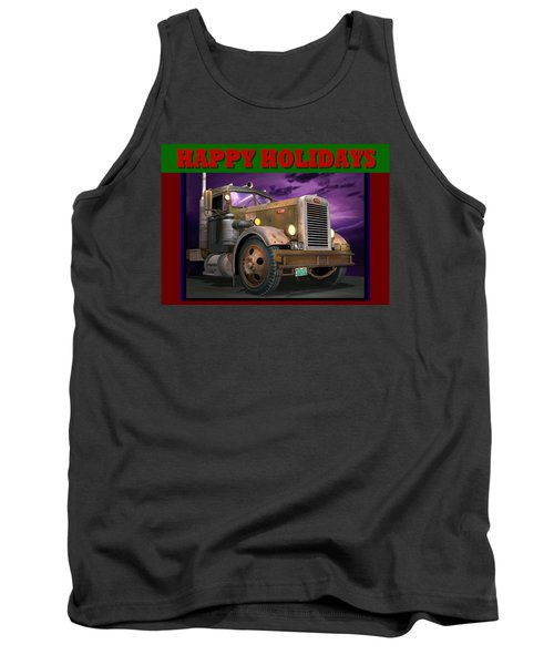Tank Top featuring the digital art Ol' Pete Happy Holidays by Stuart Swartz