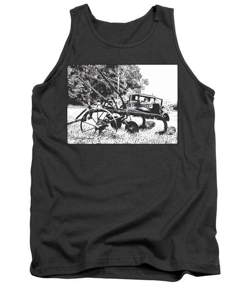 Old And Rusty In Black White Tank Top