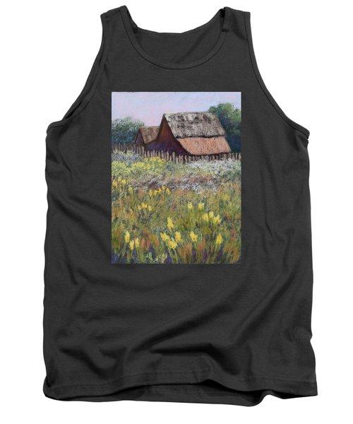 Old Barn In Spring Tank Top by Nancy Jolley