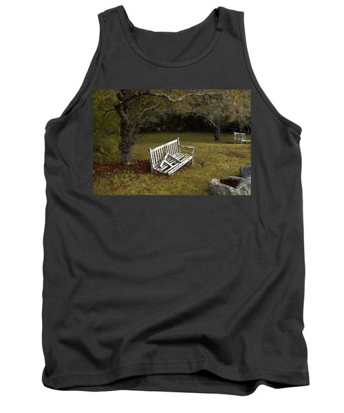 Old Benches Tank Top by Alex Galkin