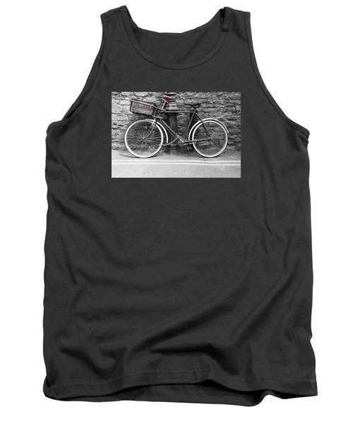 Old Bicycle Tank Top by Helen Northcott