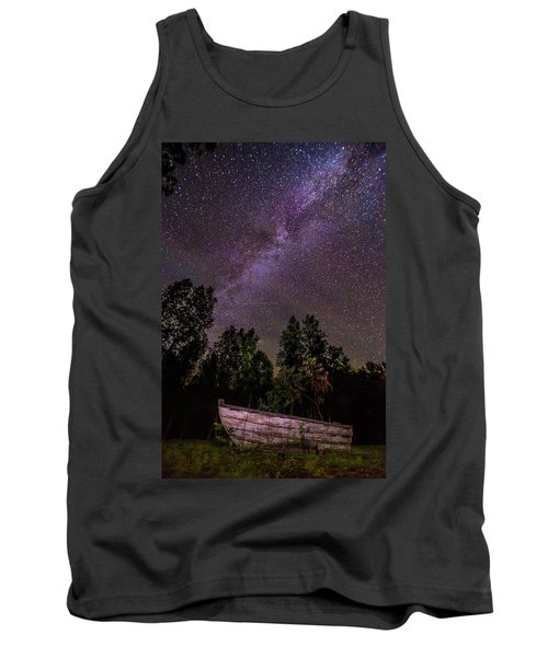 Old Boat Under The Stars Tank Top