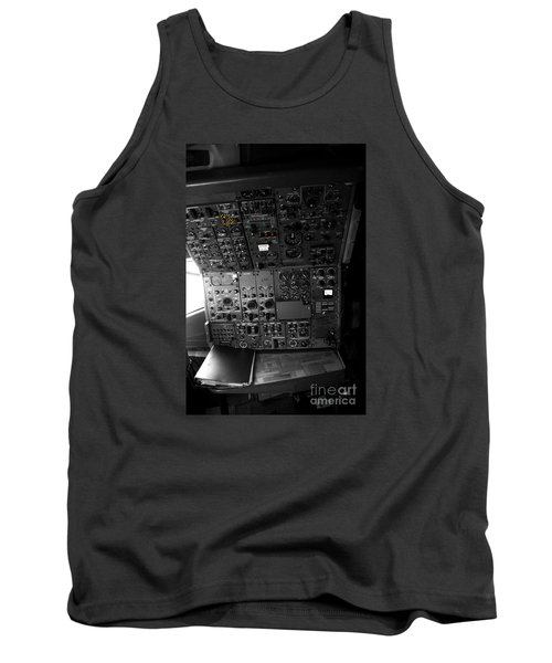 Old Boeing 727 Cockpit Tank Top by Micah May
