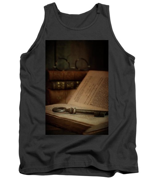 Old Book With Key Tank Top