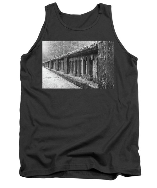 Old Bridge In Black And White Tank Top by Angi Parks