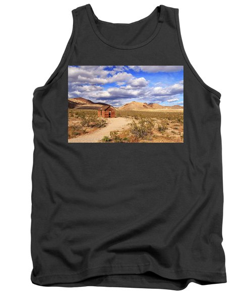Tank Top featuring the photograph Old Cabin At Rhyolite by James Eddy