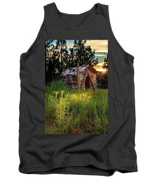 Old Cabin At Sunset Tank Top