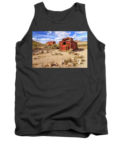 Tank Top featuring the photograph Old Caboose At Rhyolite by James Eddy
