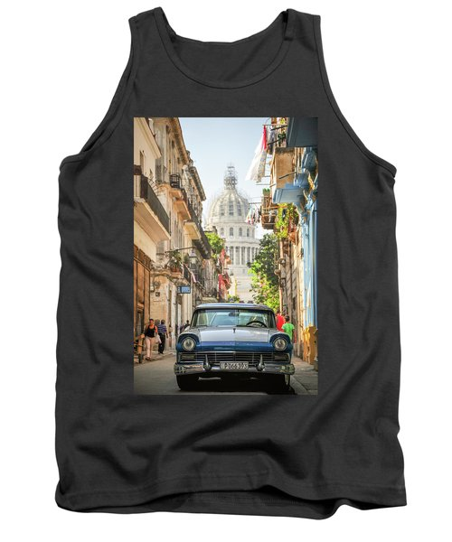 Old Car And El Capitolio Tank Top