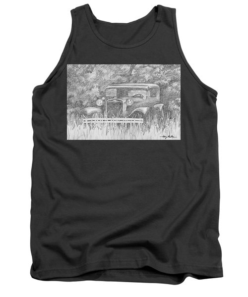 Old Car At Rest Tank Top
