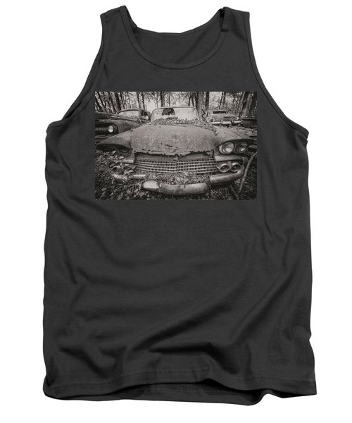 Old Car City In Black And White Tank Top
