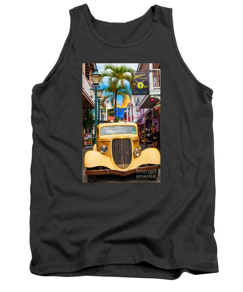 Old Car On Old Street Tank Top
