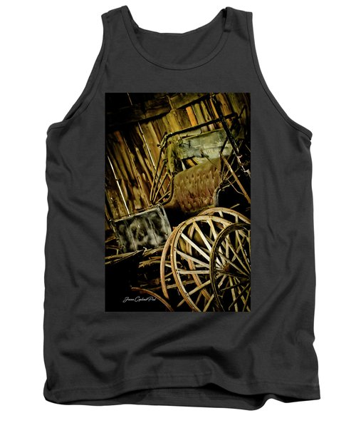 Tank Top featuring the photograph Old Carriage by Joann Copeland-Paul
