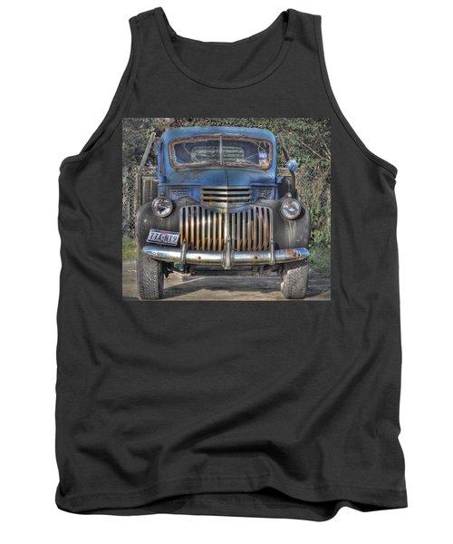 Tank Top featuring the photograph Old Chevy Truck by Savannah Gibbs