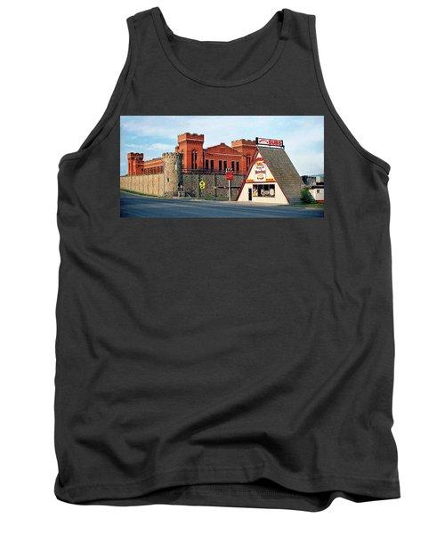 Old Deer Lodge Prison, Downtown, Vintage Tank Top