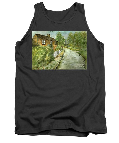 Tank Top featuring the painting Old English Cottage by Teresa White