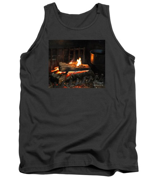 Old Fashioned Fireplace Tank Top