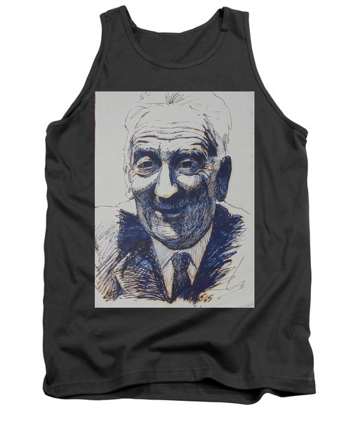 Tank Top featuring the drawing Old Fred. by Mike Jeffries