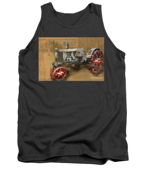 Old Grey Tractor Tank Top