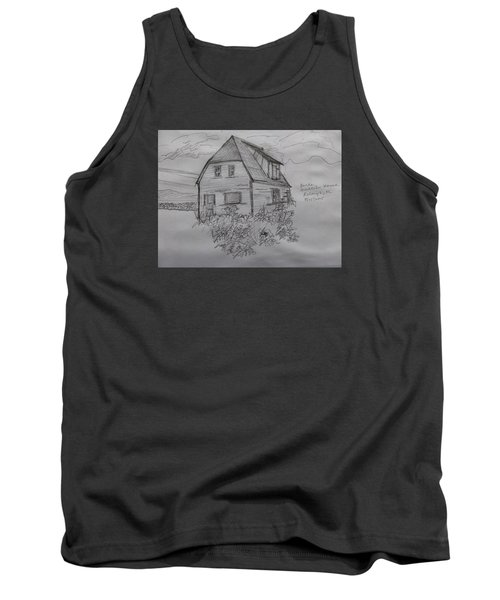 Tank Top featuring the drawing Old House In Raleigh by Joel Deutsch
