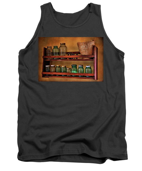 Tank Top featuring the photograph Old Jars by Lana Trussell