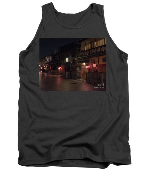 Old Kyoto Lanterns, Gion Japan Tank Top