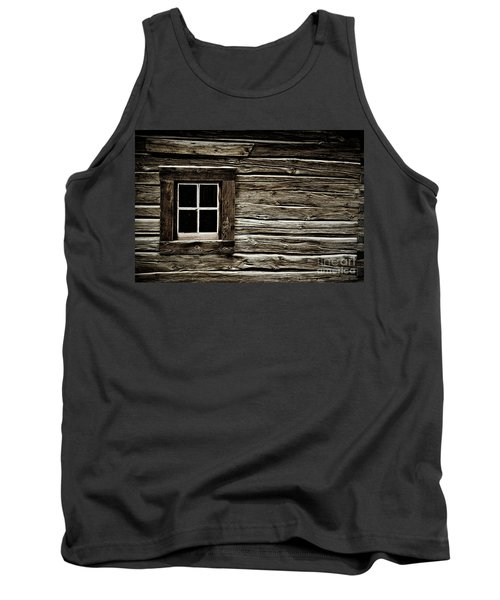 Tank Top featuring the photograph Old Log Cabin by Brad Allen Fine Art