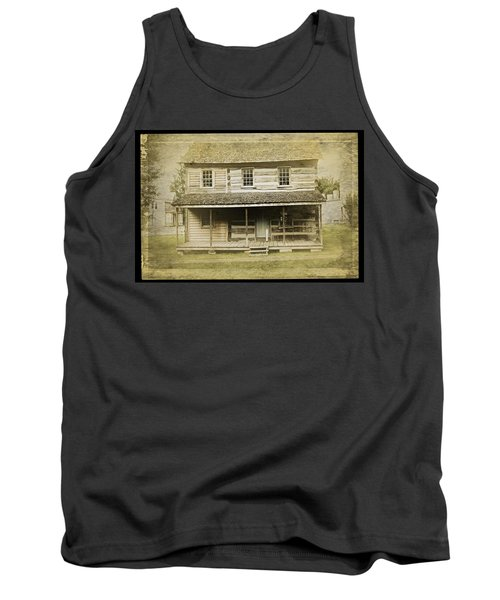 Tank Top featuring the photograph Old Log Cabin by Joan Reese