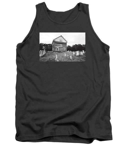 Tank Top featuring the photograph Old Log Church by Trina  Ansel