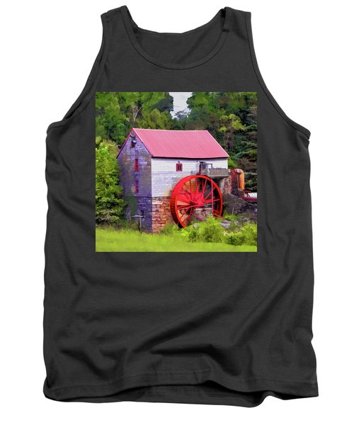 Old Mill Of Guilford Painted Square Tank Top by Sandi OReilly