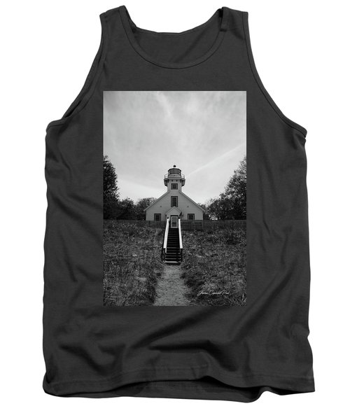Old Mission Point Lighthouse Tank Top by Joann Copeland-Paul