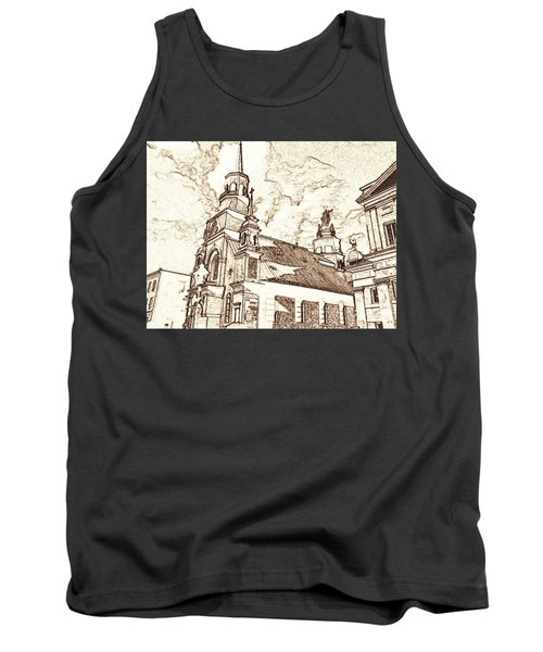Old Montreal Chapel - Pencil Tank Top
