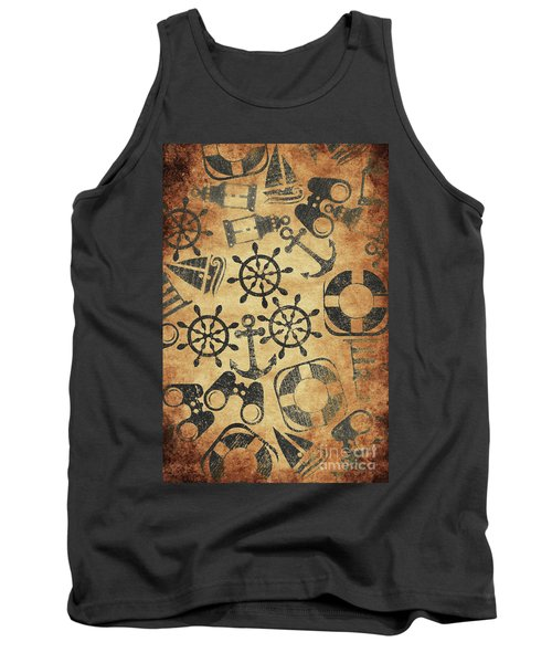 Old Nautical Parchment Tank Top