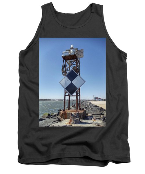 Old Ocmd Inlet Jetty Beacon And Foghorn 2 Tank Top