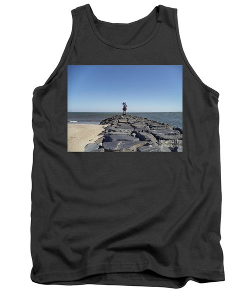 Old Ocmd Inlet Jetty Beacon And Foghorn 3 Tank Top