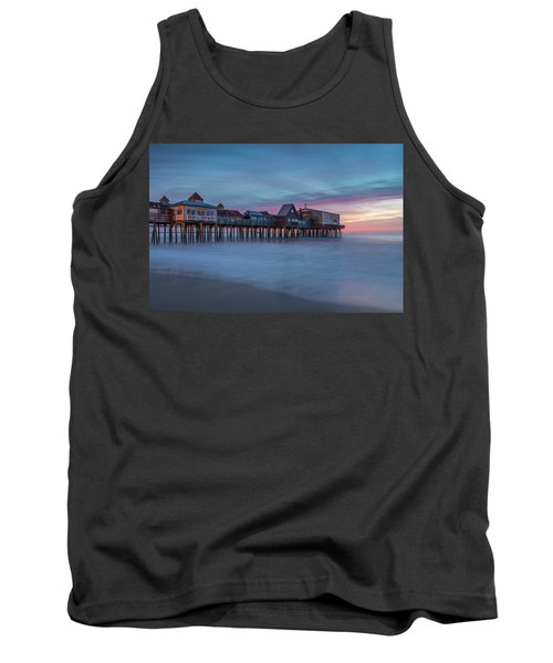 Old Orcharch Beach Pier Sunrise Tank Top
