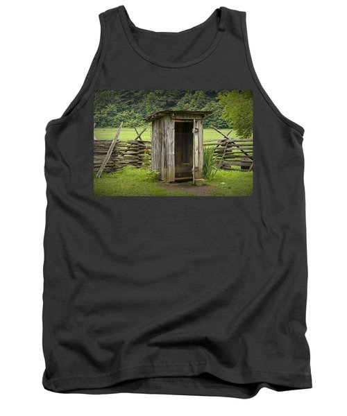 Old Outhouse On A Farm In The Smokey Mountains Tank Top by Randall Nyhof