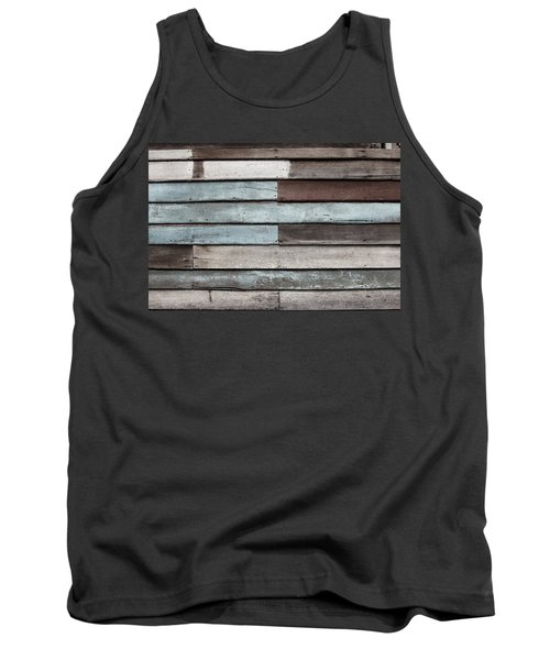 Old Pale Wood Wall Tank Top
