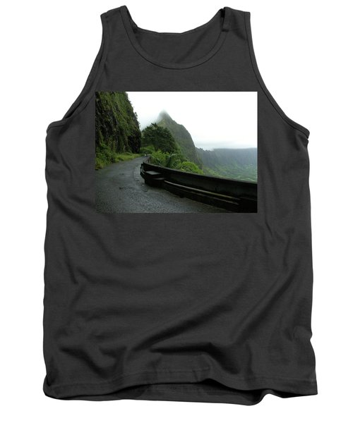 Tank Top featuring the photograph Old Pali Road, Oahu, Hawaii by Mark Czerniec