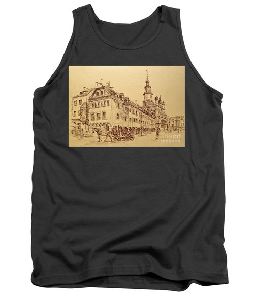 Old Poznan Drawing Tank Top