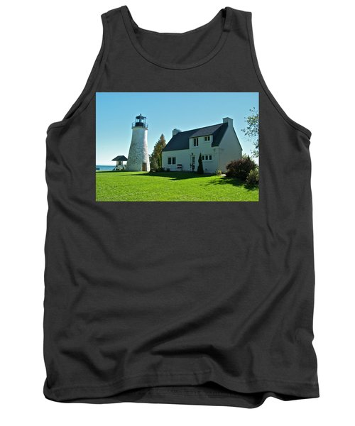 Old Presque Isle Lighthouse_9480 Tank Top by Michael Peychich
