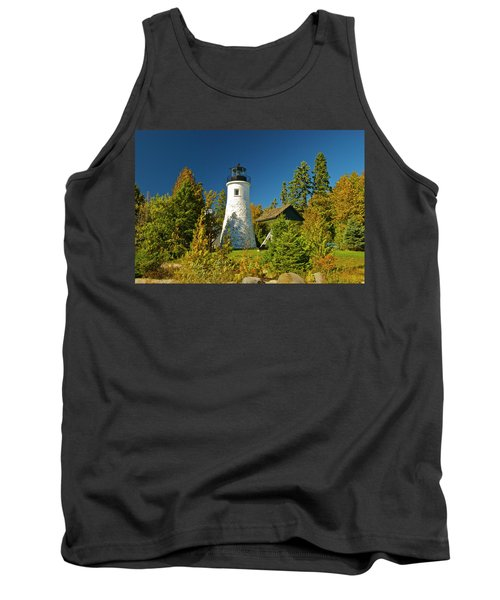 Old Presque Isle Lighthouse_9488 Tank Top by Michael Peychich