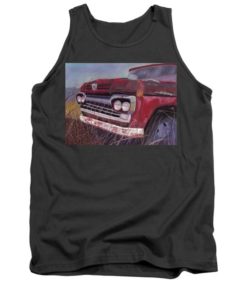 Tank Top featuring the painting Old Red by Arlene Crafton