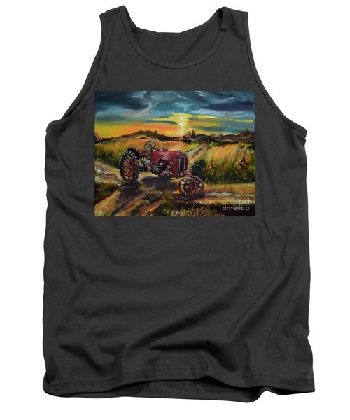 Old Red At Sunset - Tractor Tank Top