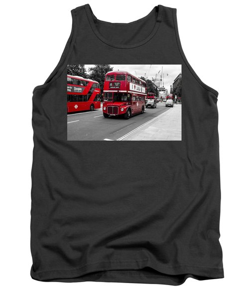 Old Red Bus Bw Tank Top