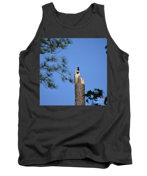 Tank Top featuring the photograph Old Red by Skip Willits