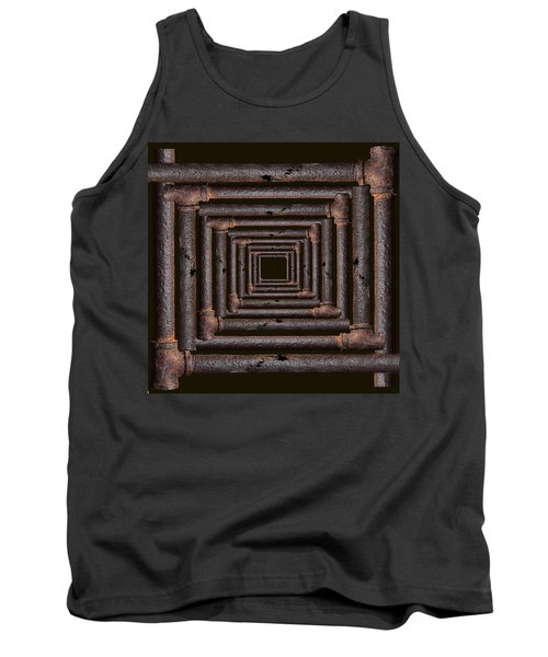 Tank Top featuring the mixed media Old Rusty Pipes by Viktor Savchenko