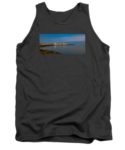 Old Scituate Light From The Jetty Tank Top by Brian MacLean