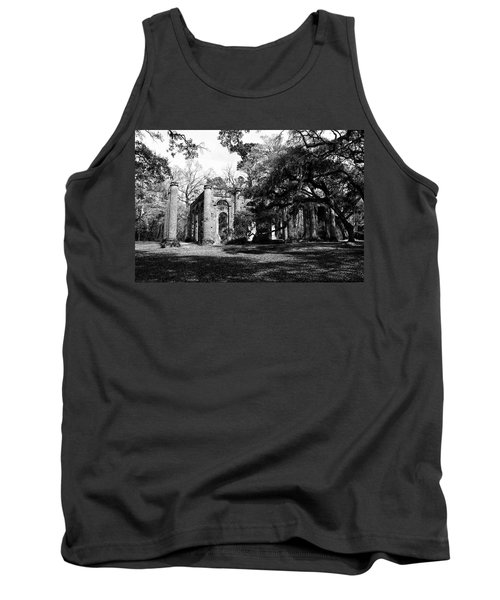 Tank Top featuring the photograph Old Sheldon Church  by Gary Wightman