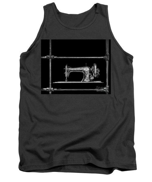 Old Singer Sewing Machine Tank Top